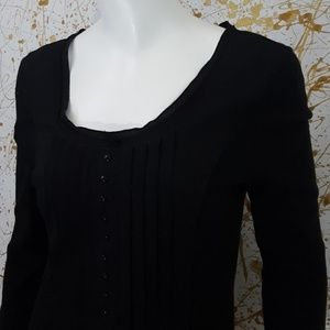 Tribal 3/4 sleeve black Blouse size Medium